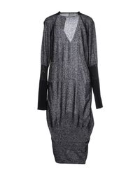 Paolo Errico - Gray Knee-length Dress - Lyst