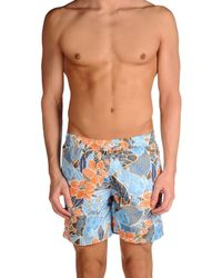 Les Copains - Blue Swimming Trunks for Men - Lyst