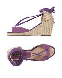 Pepe Jeans - Purple Espadrilles - Lyst
