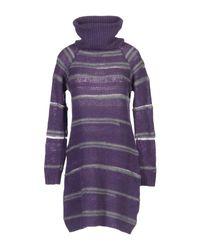 Ajay - Purple Short Dress - Lyst