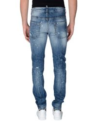 DSquared² - Blue Denim Trousers for Men - Lyst