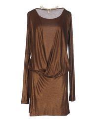 Patrizia Pepe - Brown Short Dress - Lyst