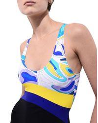 Emilio Pucci - Blue One-piece Swimsuit - Lyst