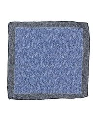 Canali - Blue Square Scarf for Men - Lyst