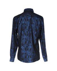 Versace | Blue Shirt for Men | Lyst