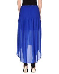 Pinko - Blue Long Skirts - Lyst