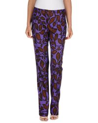 Just Cavalli - Purple Casual Trouser - Lyst