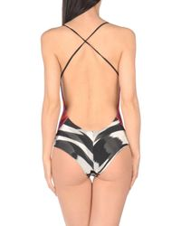 Missoni Purple One-piece Swimsuit