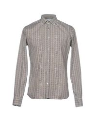 Aglini - Brown Shirt for Men - Lyst