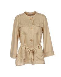Stefanel - Natural Overcoats - Lyst