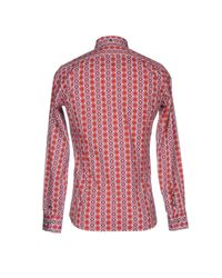 Aglini - Red Shirt for Men - Lyst