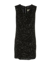 Saint Laurent - Black Short Dress - Lyst