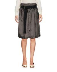 Ann Demeulemeester - Green Knee Length Skirt - Lyst