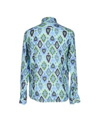 Drumohr - Blue Shirt for Men - Lyst