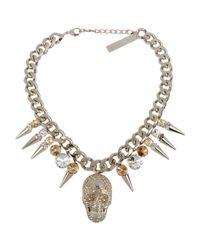 Philipp Plein - Metallic Necklace - Lyst