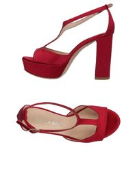 Lella Baldi - Red Sandals - Lyst