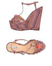 Schutz - Orange Sandals - Lyst