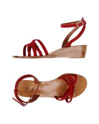 K. Jacques - Red Sandals - Lyst