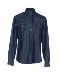 Smythson - Blue Denim Shirt for Men - Lyst