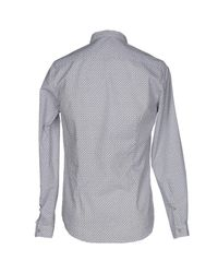 Officina 36 - Gray Shirt for Men - Lyst