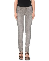 Plein Sud - Gray Denim Pants - Lyst