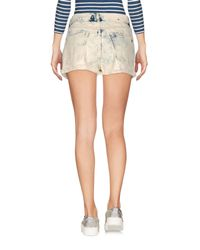 Manila Grace | White Denim Shorts | Lyst