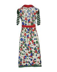 Pianurastudio - White Knee-length Dress - Lyst
