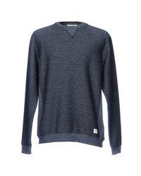 Solid - Blue Sweatshirt for Men - Lyst