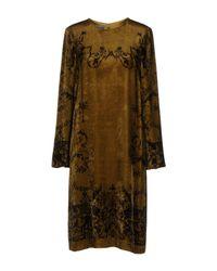 Alberta Ferretti - Green Knee-length Dress - Lyst