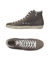 Leather Crown - Gray High-tops & Sneakers for Men - Lyst