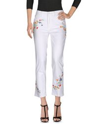 Tory Burch - White Denim Pants - Lyst