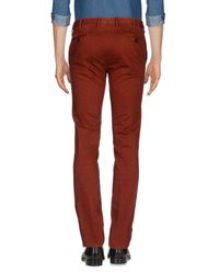 PT01 - Red Casual Trouser for Men - Lyst