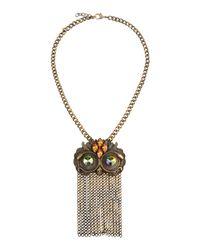 Class Roberto Cavalli - Metallic Necklace - Lyst