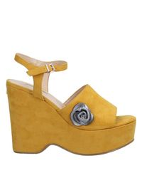 Guess - Yellow Sandals - Lyst