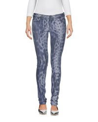Guess - Blue Denim Trousers - Lyst