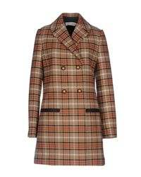 Tory Burch - Brown Coat - Lyst