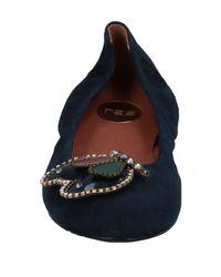 Regain - Blue Ballet Flats - Lyst
