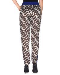 Erika Cavallini Semi Couture - Brown Casual Pants - Lyst