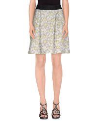 Pinko - Yellow Knee Length Skirt - Lyst