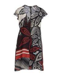 Caractere - Multicolor Short Dress - Lyst