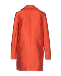 Carven - Orange Overcoat - Lyst
