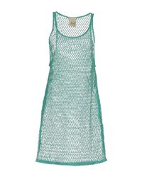 Jijil - Green Short Dress - Lyst