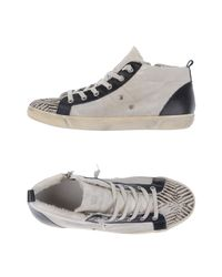 Leather Crown White High-tops & Sneakers