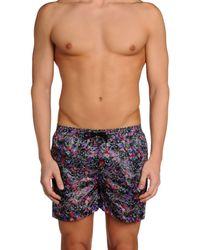 MSGM - Purple Swimming Trunks for Men - Lyst