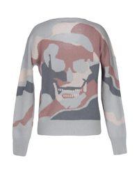 Skull Cashmere Gray Sweater