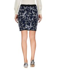 Balenciaga - Blue Mini Skirt - Lyst