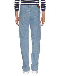 Trussardi - Blue Denim Trousers for Men - Lyst