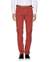 Scotch & Soda - Red Casual Trouser for Men - Lyst