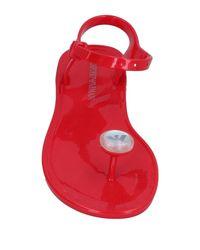 Emporio Armani - Red Toe Post Sandal - Lyst