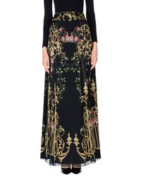 Alberta Ferretti - Black Long Skirt - Lyst